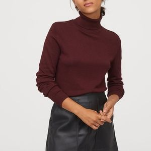 Pendleton Maroon Burgundy Ribbed Knit Turtleneck M